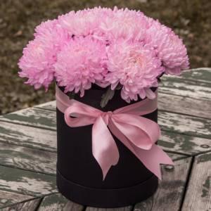 Коробка 15 розовых одноголовых хризантем R578